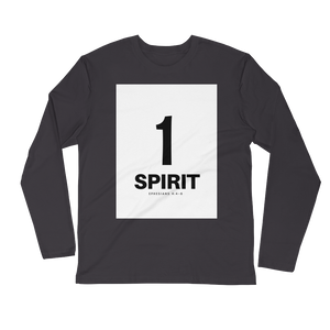 1 Spirit Men's Long Sleeve Fitted Crew