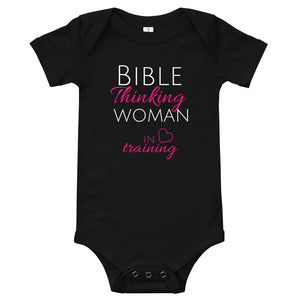 Bible Thinking Woman In Training Baby T-Shirt