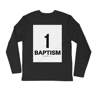 1 Baptism Men's Long Sleeve Fitted Crew