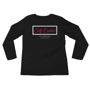 Fruit of the Spirit-Self Control Ladies' Long Sleeve T-Shirt