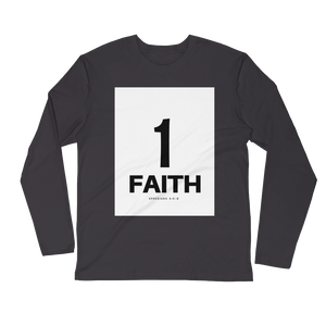1 Faith Men's Long Sleeve Fitted Crew