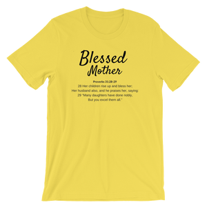 Yellow Blessed Mom T-shirt
