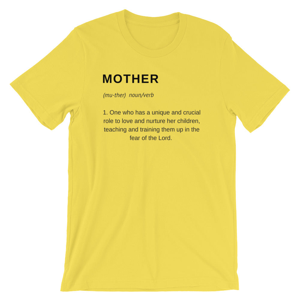 Mother Definition Yellow T-Shirt