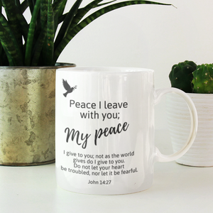 God's Peace Be With You Mug