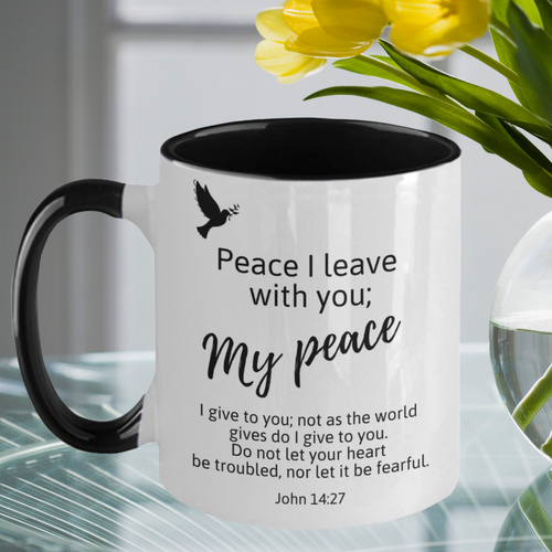 God's Peace Be With You Two-Tone Mug