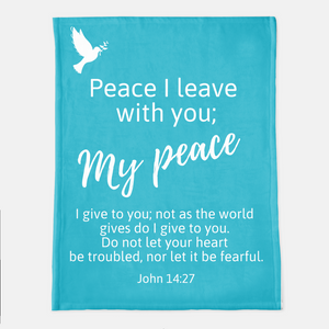 God's Peace Be With You Throw Blanket