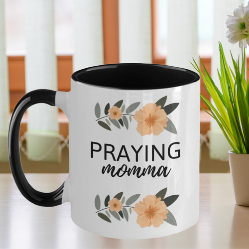 Praying Momma Two-Tone Mug
