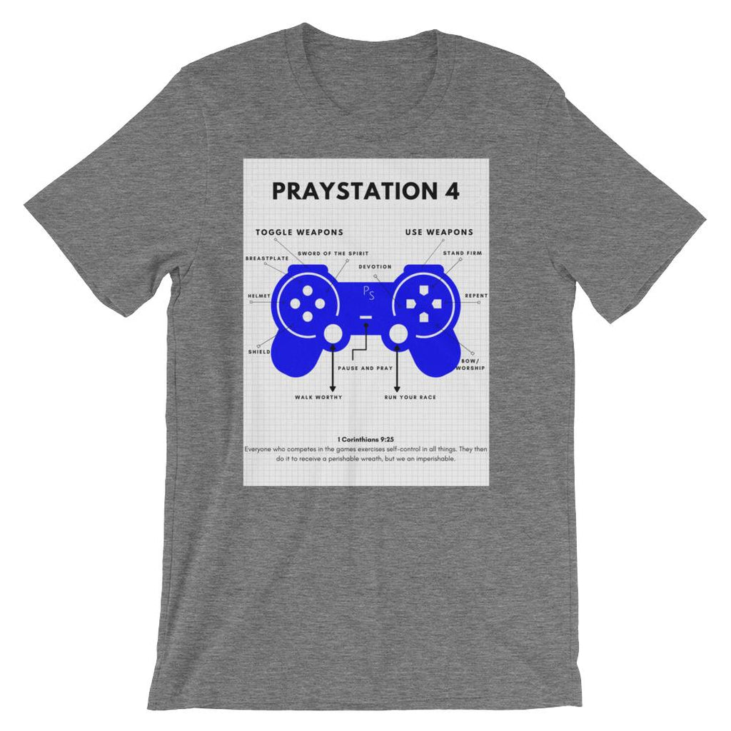 PRAYStation 4 Grey T-shirt