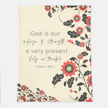 God Is Our Refuge Throw Blanket