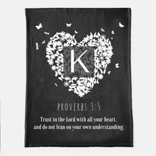 Personalized Bible Verse Heart Throw Blanket
