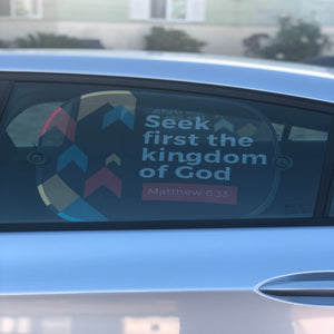 Seek First The Kingdom Side Window Sunshade