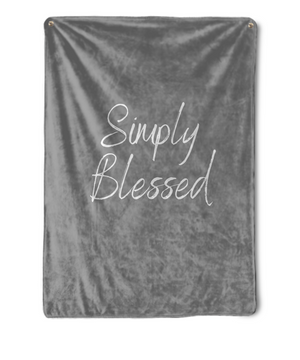 Simply Blessed Throw Blanket