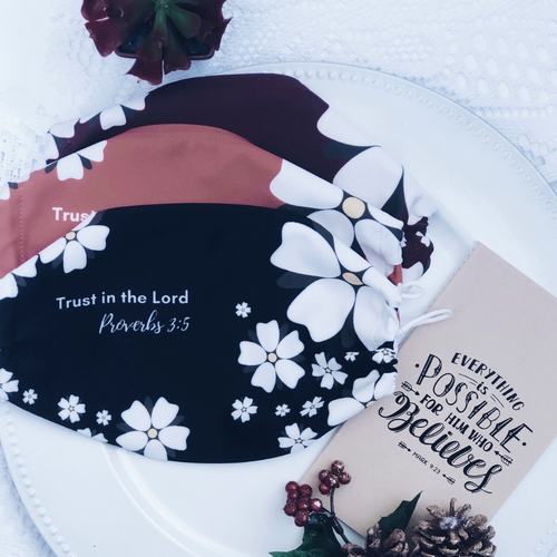 Trust In The Lord 3-Piece Face Mask Bundle Gift