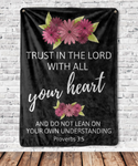 Trust in the Lord Proverbs 3:5 Throw Blanket