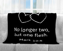 Two Become One Couples Throw Blanket (Customizable)