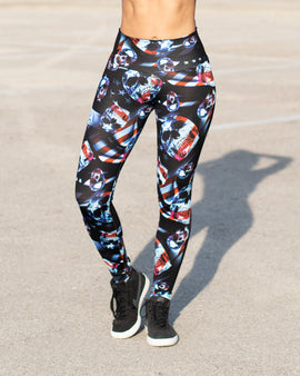 American Skull Leggings