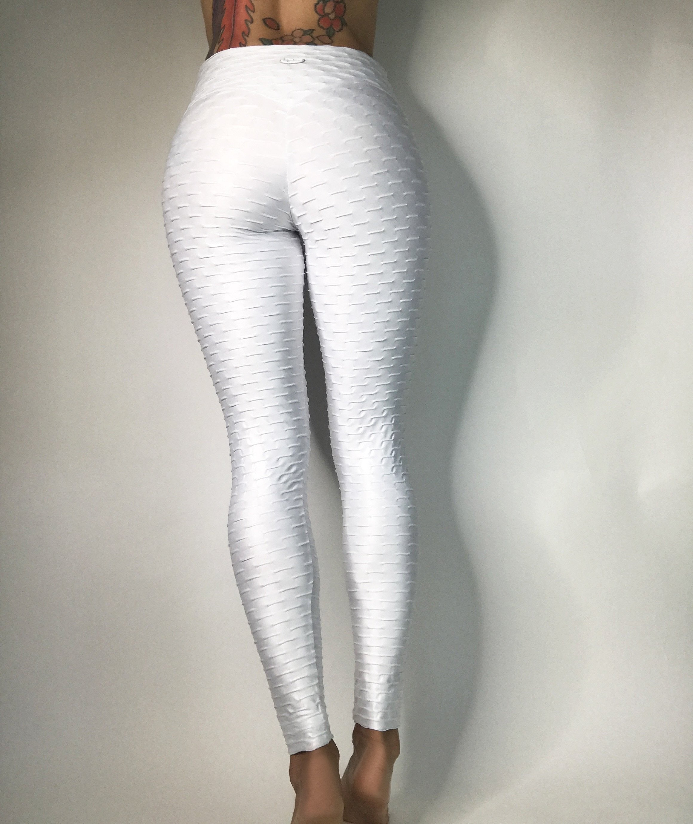 Metallic Honeycomb High waisted Leggings