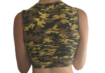 Camo Melrose Crop Top