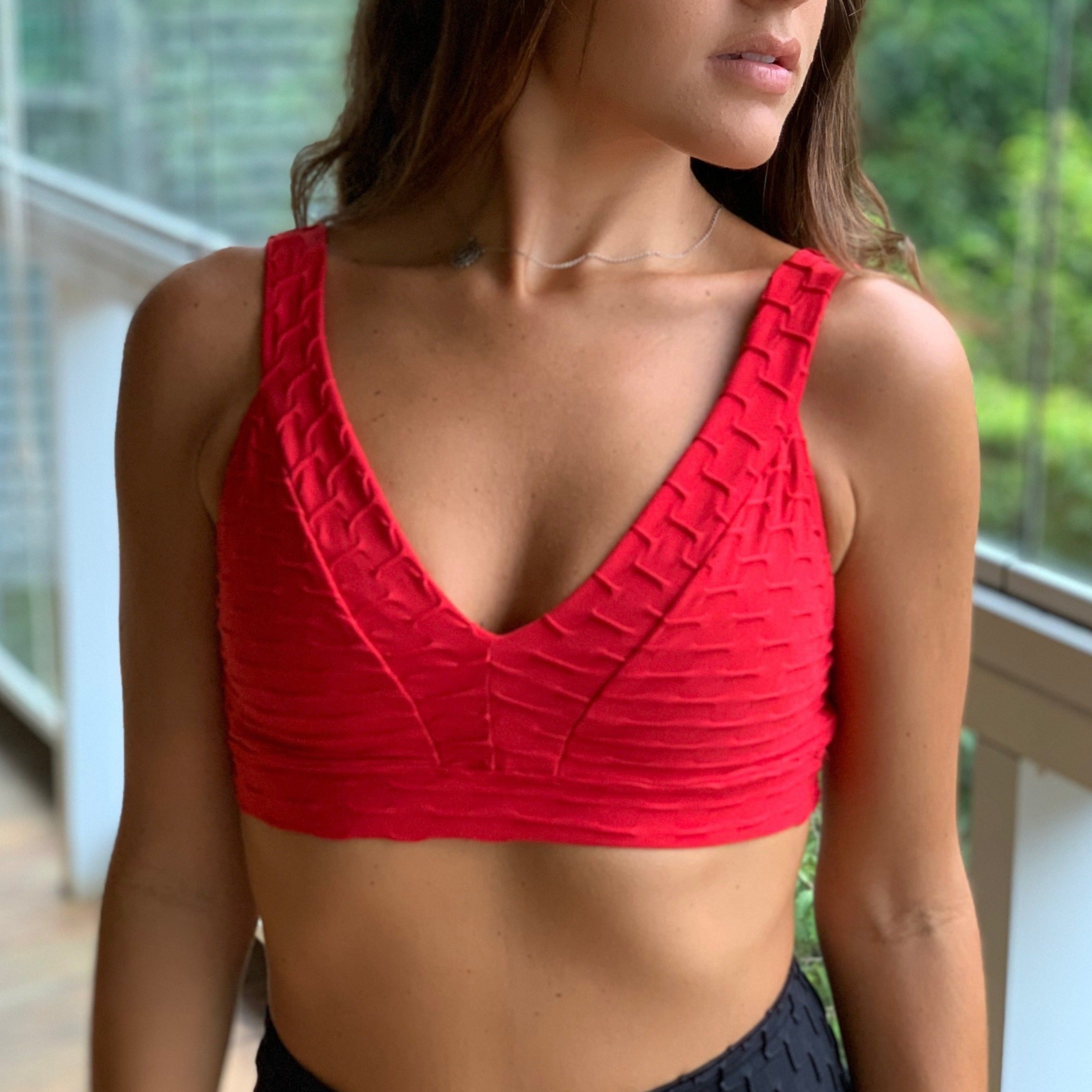Mystique Honeycomb Crop Top