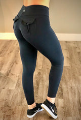 Silver Pocket Leggings