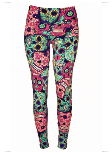 Mexican Skull Leggings