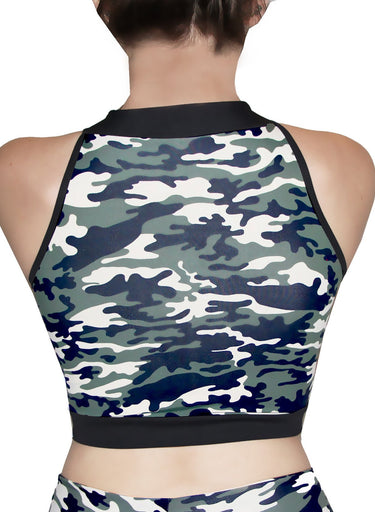 Military Jazz Crop Top