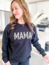 Blonde Ambition MAMA Leopard Crew Neck Black