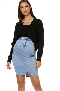 Bae the Label Mad About You Twist Crop Black