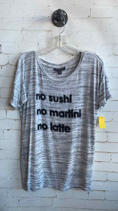 "Pea in the Pod ""No sushi"" Grey Tee - SM"