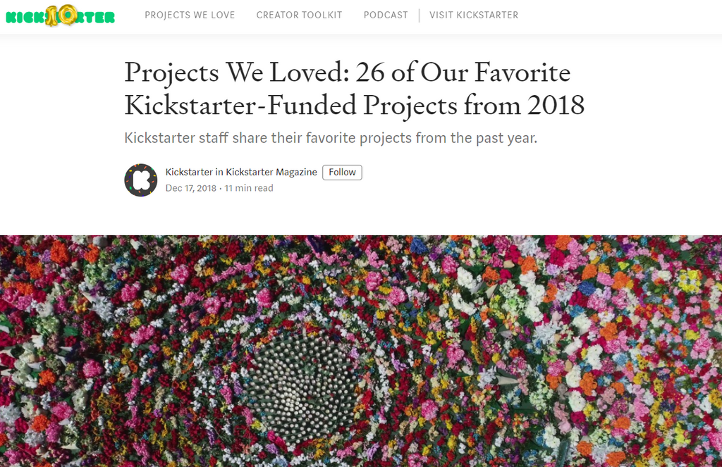 Kickstarter Projects of the Year 2018