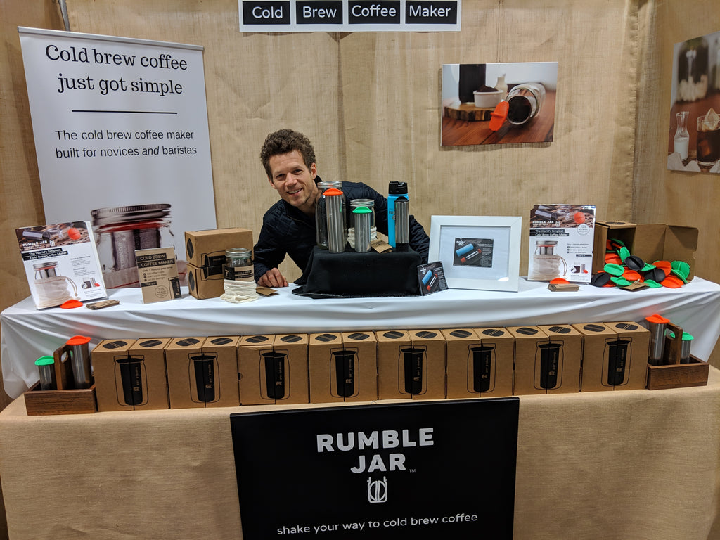 Rumble Jar booth at AmericasMart Gift & Home Furnishings Market