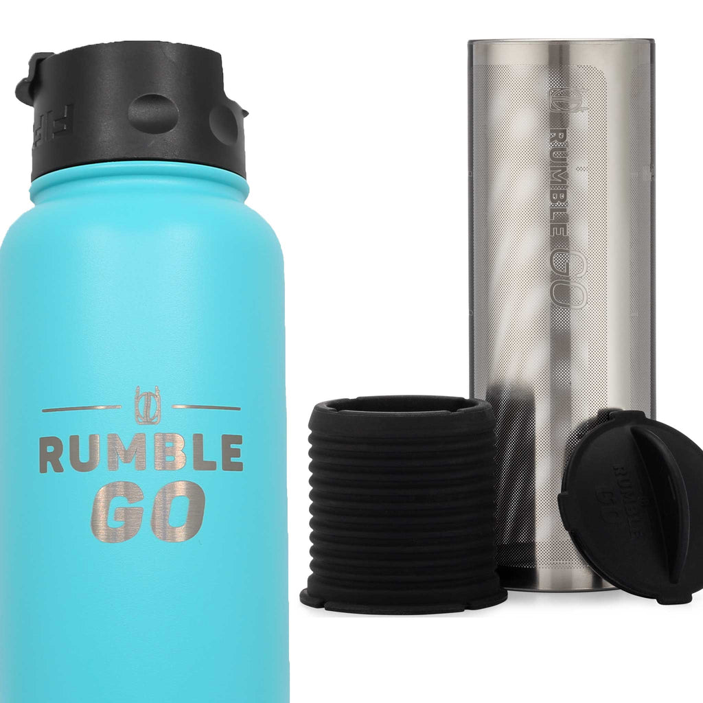 Rumble Go portable cold brew coffee filter plus 34oz insulated bottle