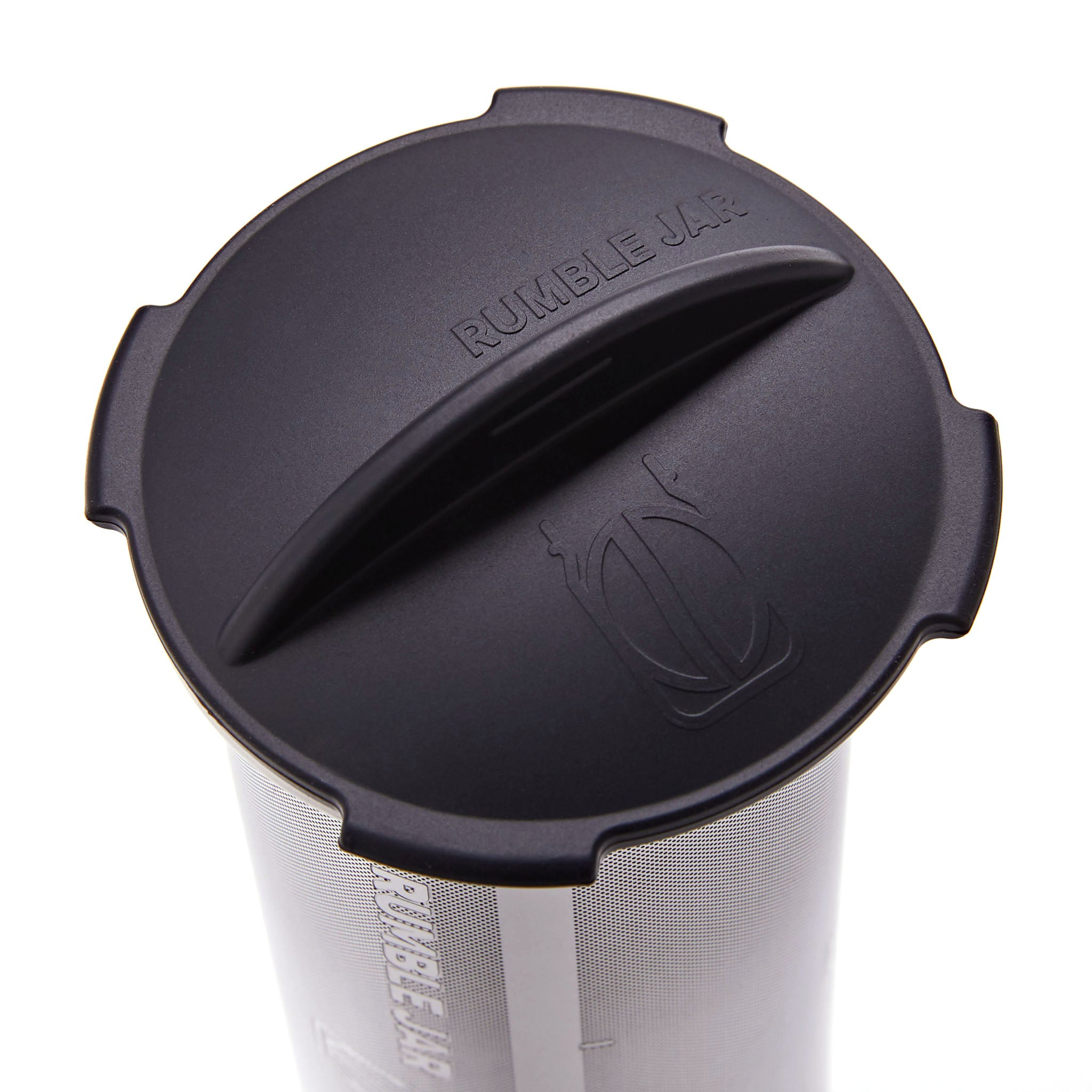 Rumble Jar's silicone cap in the Dark Black color