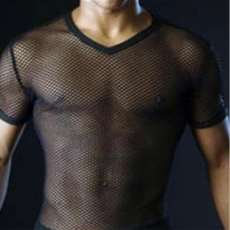 Men's T-Shirt - Transparent Mesh T-Shirt