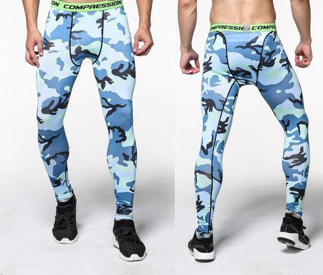 Men's  Leggings - Compression  Camouflage