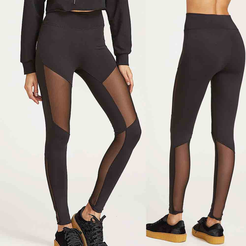 Women's Leggings - Translucent Patchwork