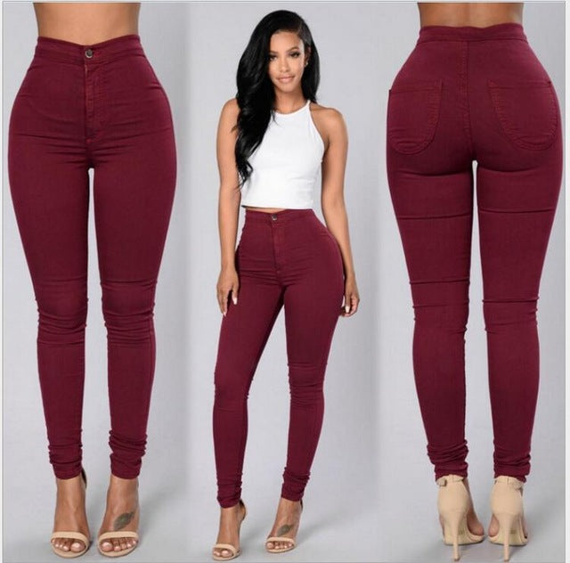 Women's Leggings - Stretchy Jeans