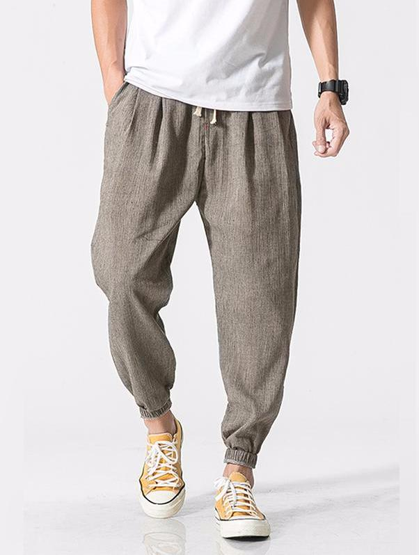 Men's Pants - Linen Cotton