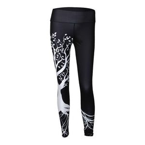 Women's Leggings - Tree Printed