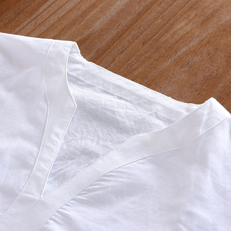 Men's  Shirt - Soft Linen Three Quarter Shirt