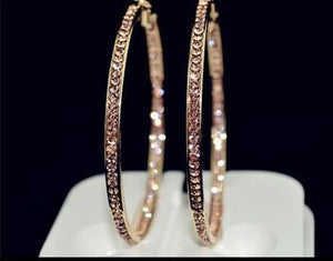 Earrings - Rhinestone Circle