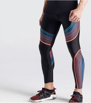 Men's Leggings - Compression Stripes