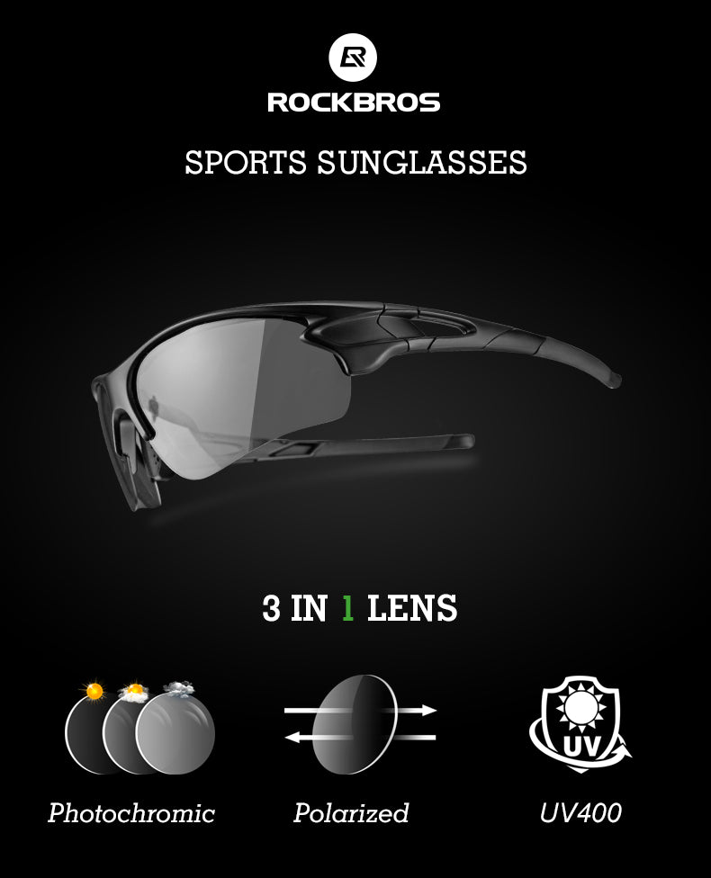 3-feature in 1 lens, photochromic, polarized, uv400
