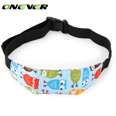 Owl Safety Car Seat Sleep Nap Aid Baby Kids Head Support Holder Belt Pink Blue