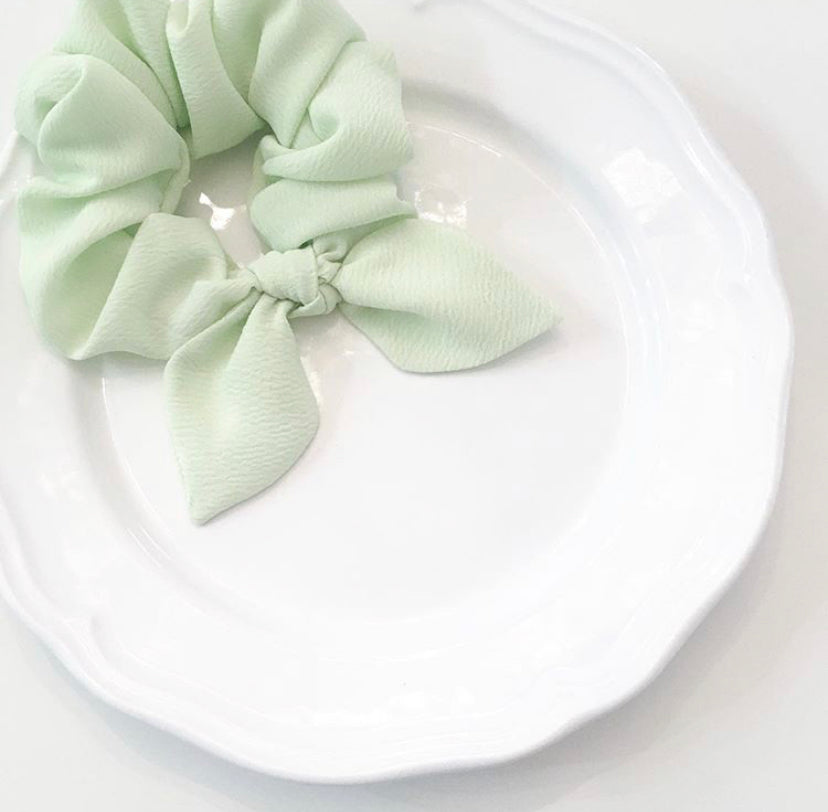 Pink Chickie Scrunchie- Green