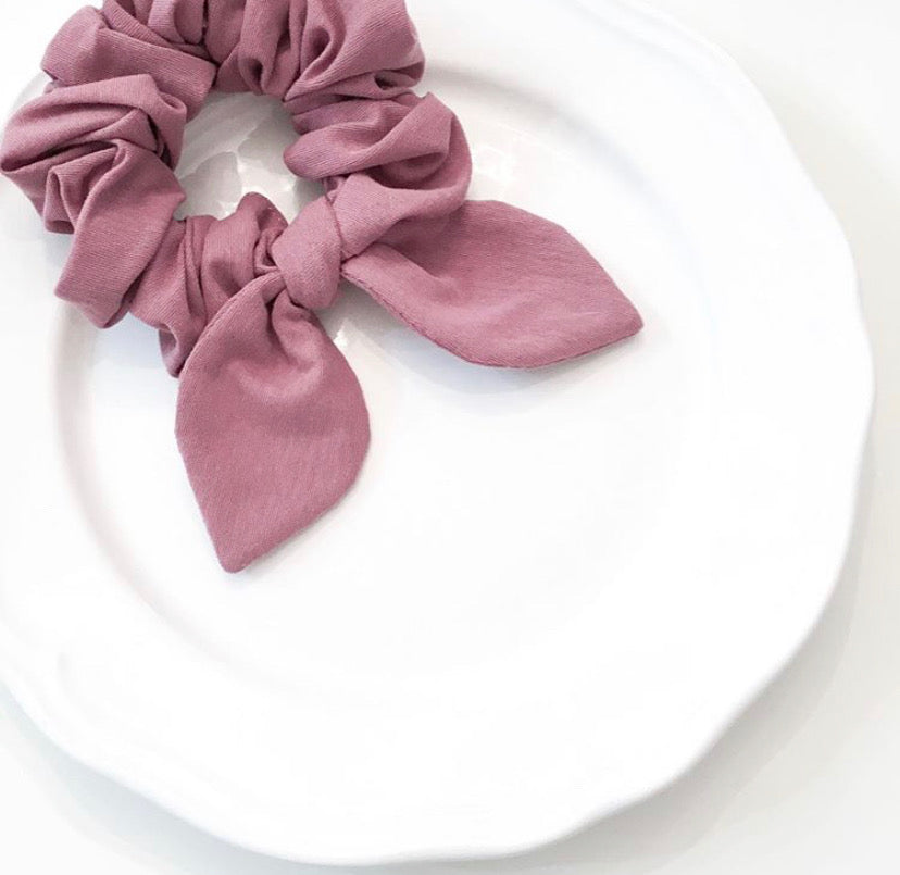Pink Chickie Scrunchie-Dusty Rose
