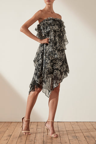 Dakota Asymmetrical Ruffle Mini Dress