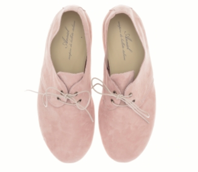 Cipria Lace-Up Flats