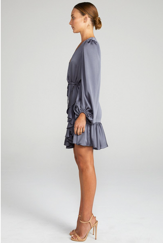 Anna Puff Sleeve Drawstring Mini Dress