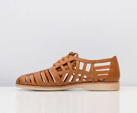 Derby Cage Tan Shoes